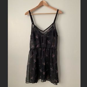Urban Outfitters Chiffon Floral Slip Dress